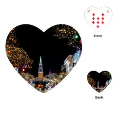 Church Decoration Night Playing Cards (heart)