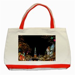 Church Decoration Night Classic Tote Bag (red)