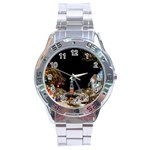 Church Decoration Night Stainless Steel Analogue Watch Front