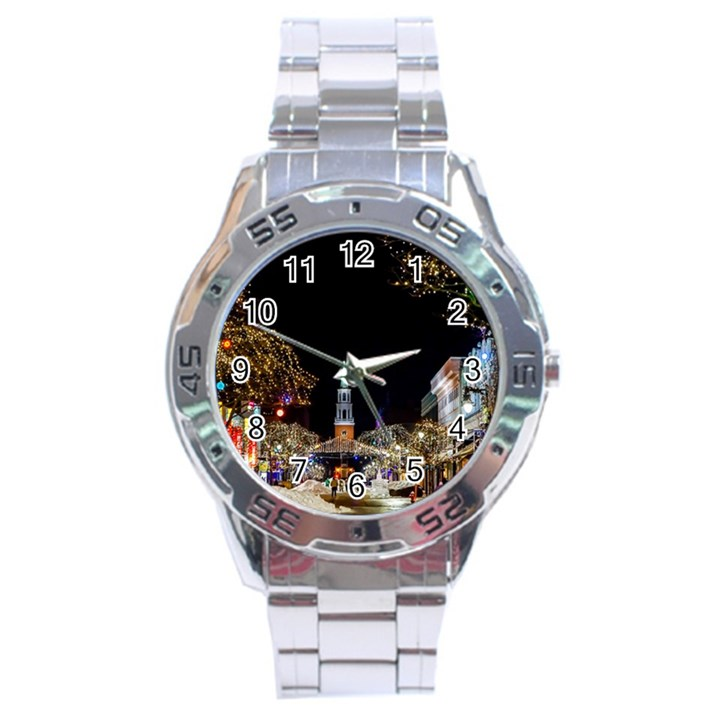 Church Decoration Night Stainless Steel Analogue Watch