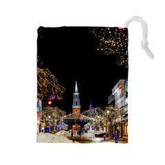 Church Decoration Night Drawstring Pouches (large)