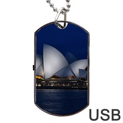 Landmark Sydney Opera House Dog Tag Usb Flash (two Sides)