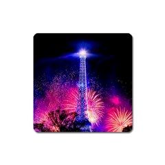 Paris France Eiffel Tower Landmark Square Magnet