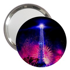Paris France Eiffel Tower Landmark 3  Handbag Mirrors