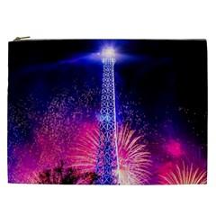 Paris France Eiffel Tower Landmark Cosmetic Bag (xxl)