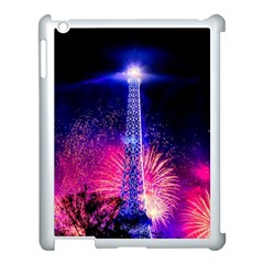Paris France Eiffel Tower Landmark Apple Ipad 3/4 Case (white)