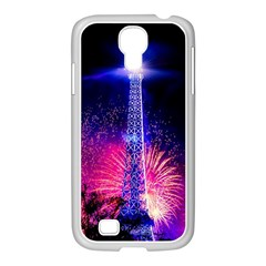 Paris France Eiffel Tower Landmark Samsung Galaxy S4 I9500/ I9505 Case (white)
