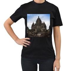 Prambanan Temple Indonesia Jogjakarta Women s T Shirt (black) (two Sided)
