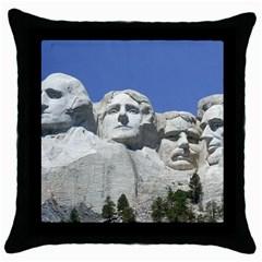 Mount Rushmore Monument Landmark Throw Pillow Case (black)