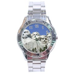 Mount Rushmore Monument Landmark Stainless Steel Analogue Watch