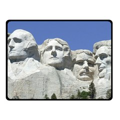 Mount Rushmore Monument Landmark Double Sided Fleece Blanket (small)