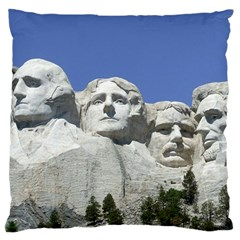 Mount Rushmore Monument Landmark Large Flano Cushion Case (two Sides)