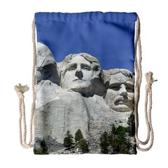 Mount Rushmore Monument Landmark Drawstring Bag (large)
