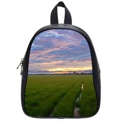 Landscape Sunset Sky Sun Alpha School Bag (small)