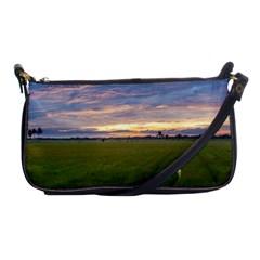 Landscape Sunset Sky Sun Alpha Shoulder Clutch Bags