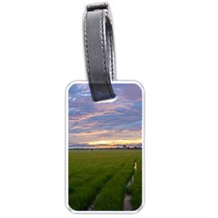 Landscape Sunset Sky Sun Alpha Luggage Tags (one Side)
