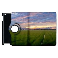 Landscape Sunset Sky Sun Alpha Apple Ipad 3/4 Flip 360 Case