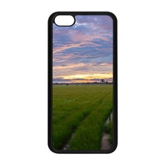 Landscape Sunset Sky Sun Alpha Apple Iphone 5c Seamless Case (black)