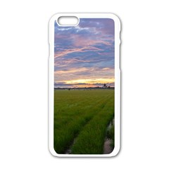 Landscape Sunset Sky Sun Alpha Apple Iphone 6/6s White Enamel Case
