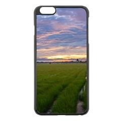 Landscape Sunset Sky Sun Alpha Apple Iphone 6 Plus/6s Plus Black Enamel Case