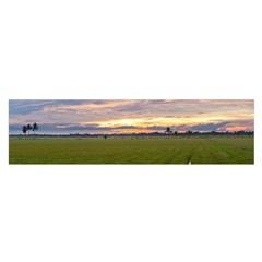 Landscape Sunset Sky Sun Alpha Satin Scarf (oblong)