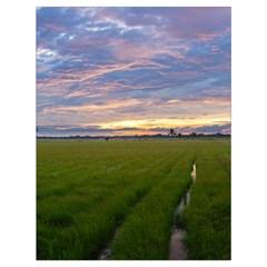 Landscape Sunset Sky Sun Alpha Drawstring Bag (large)
