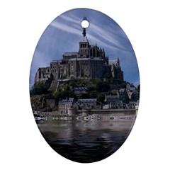 Mont Saint Michel France Normandy Ornament (oval)