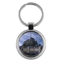 Mont Saint Michel France Normandy Key Chains (round)