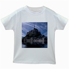 Mont Saint Michel France Normandy Kids White T Shirts
