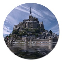 Mont Saint Michel France Normandy Magnet 5  (round)