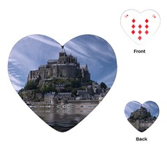 Mont Saint Michel France Normandy Playing Cards (heart)
