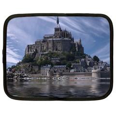 Mont Saint Michel France Normandy Netbook Case (large)