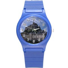 Mont Saint Michel France Normandy Round Plastic Sport Watch (s)