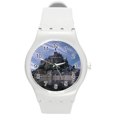Mont Saint Michel France Normandy Round Plastic Sport Watch (m)