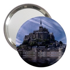 Mont Saint Michel France Normandy 3  Handbag Mirrors