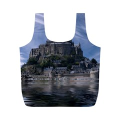 Mont Saint Michel France Normandy Full Print Recycle Bags (m)