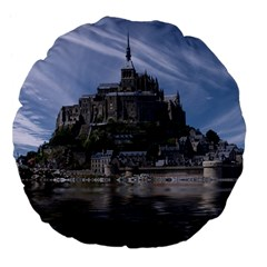 Mont Saint Michel France Normandy Large 18  Premium Flano Round Cushions