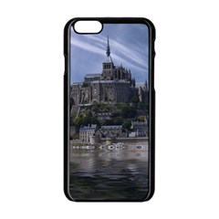 Mont Saint Michel France Normandy Apple Iphone 6/6s Black Enamel Case