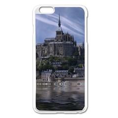Mont Saint Michel France Normandy Apple Iphone 6 Plus/6s Plus Enamel White Case