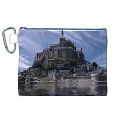 Mont Saint Michel France Normandy Canvas Cosmetic Bag (xl)