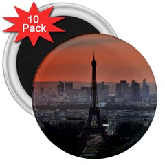 Paris France French Eiffel Tower 3  Magnets (10 Pack)