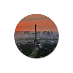 Paris France French Eiffel Tower Magnet 3  (round)