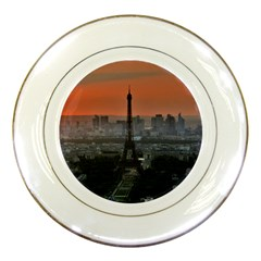 Paris France French Eiffel Tower Porcelain Plates