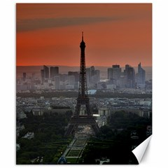 Paris France French Eiffel Tower Canvas 8  X 10