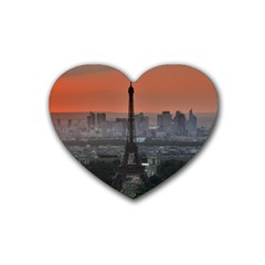Paris France French Eiffel Tower Rubber Coaster (heart)
