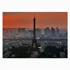Paris France French Eiffel Tower Large Glasses Cloth (2 Side)