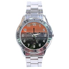 Paris France French Eiffel Tower Stainless Steel Analogue Watch