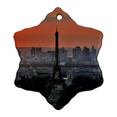 Paris France French Eiffel Tower Ornament (snowflake)