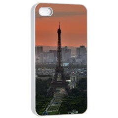 Paris France French Eiffel Tower Apple Iphone 4/4s Seamless Case (white)