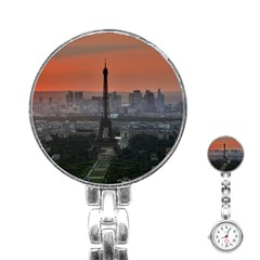Paris France French Eiffel Tower Stainless Steel Nurses Watch
